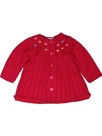 Gilet fille CATIMINI rouge 6 mois hiver #1028489_1