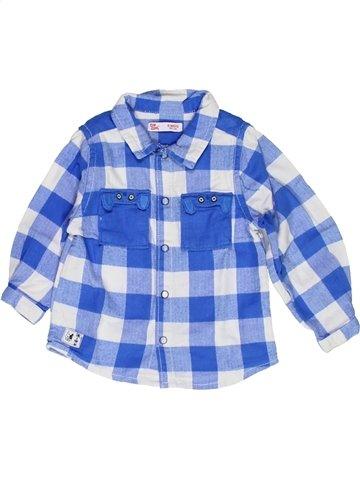 Chemise manches longues garçon DPAM bleu 6 mois hiver #1056212_1