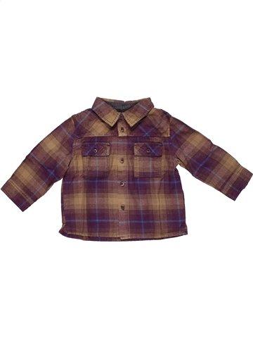 Chemise manches longues garçon DPAM marron 12 mois hiver #1057712_1