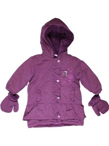 Manteau fille 3 POMMES violet 12 mois hiver #1066913_1