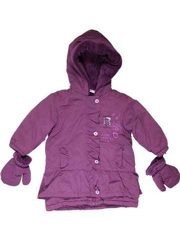 Abrigo niña 3 POMMES violeta 12 meses invierno #1066913_1
