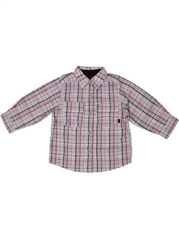 Chemise manches longues garçon OKAIDI gris 12 mois hiver #1079875_1