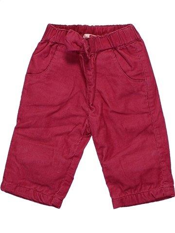 Pantalon fille DPAM rouge 3 mois hiver #1085393_1