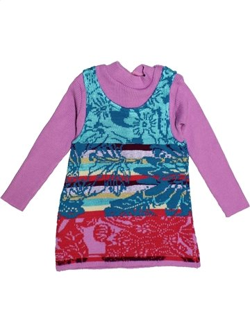 Vestido niña CLAYEUX violeta 2 años invierno #1086244_1