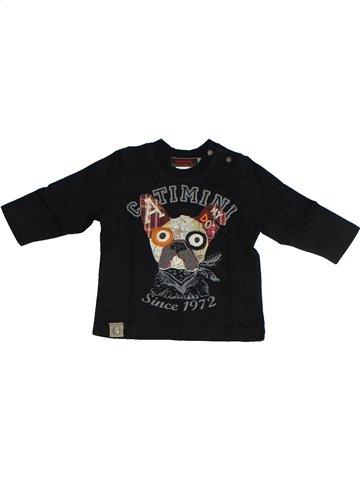 T-shirt manches longues garçon CATIMINI noir 6 mois hiver #1092016_1