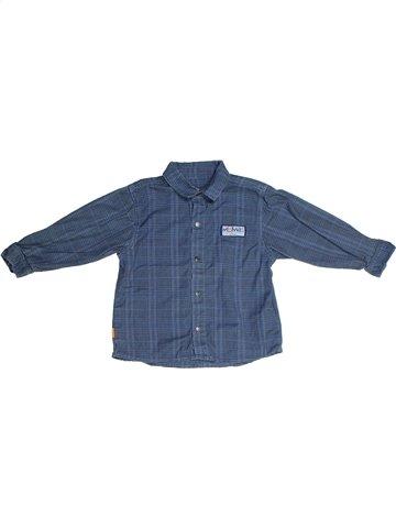 Chemise manches longues garçon MINIMAN bleu 2 ans hiver #1099104_1