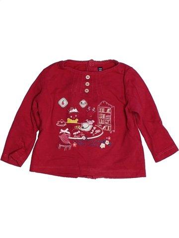 T-shirt manches longues fille SERGENT MAJOR rouge 6 mois hiver #1103757_1
