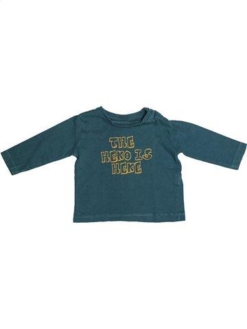 T-shirt manches longues garçon ZARA bleu 6 mois hiver #1133077_1