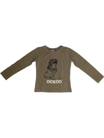 T-shirt manches longues fille OOXOO marron 6 ans hiver #1135220_1