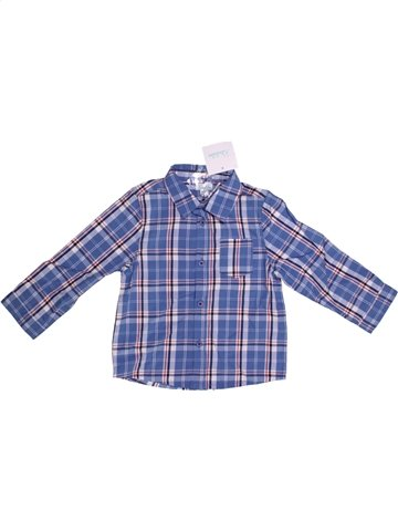 Chemise manches longues garçon KIMBALOO violet 2 ans hiver #1139782_1