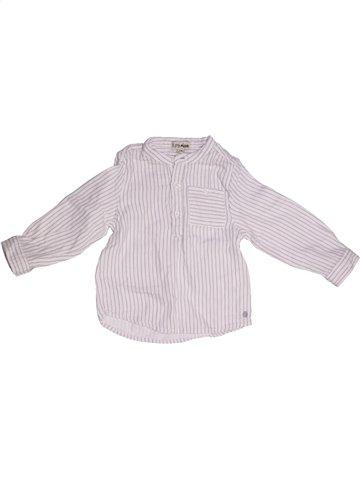 Chemise manches longues garçon KIMBALOO blanc 2 ans hiver #1143546_1