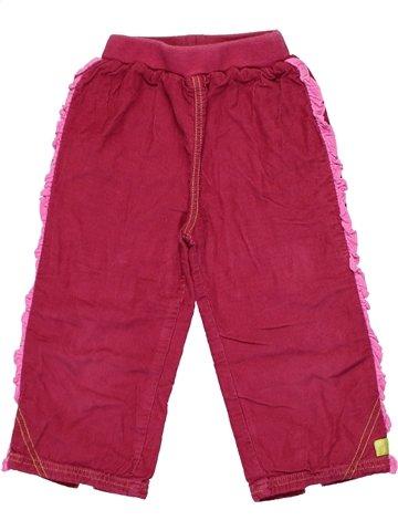 Pantalón niña CLAYEUX rojo 2 años invierno #1146294_1