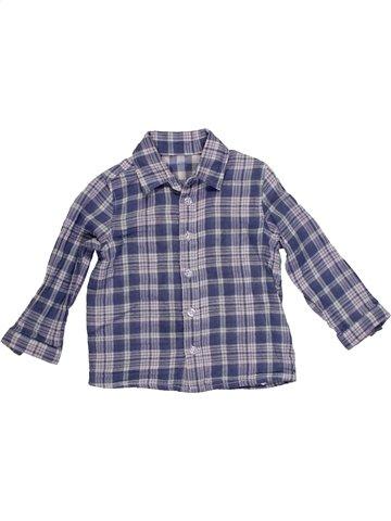 Chemise manches longues garçon SUCRE D'ORGE gris 2 ans hiver #1156037_1