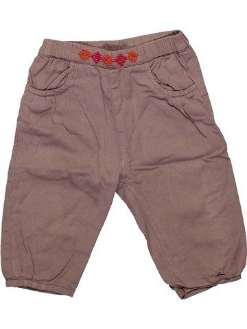 Pantalon fille DPAM marron 12 mois été #1156766_1