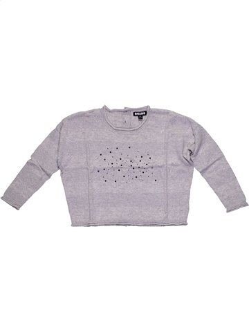 Pull fille OOXOO gris 5 ans hiver #1159032_1