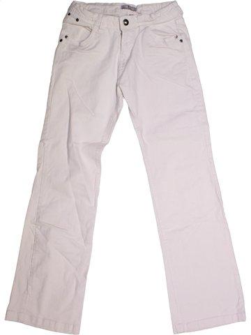 Pantalon fille VYNIL FRAISE blanc 12 ans hiver #1167251_1