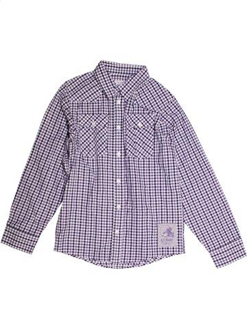 Chemise manches longues garçon ALPHABET violet 10 ans hiver #1167609_1