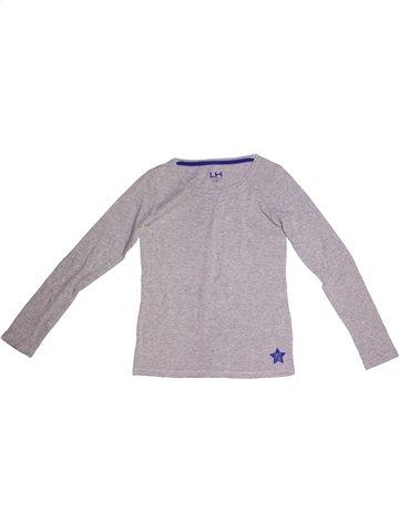 T-shirt manches longues garçon LH BY LA HALLE gris 12 ans hiver #1168795_1