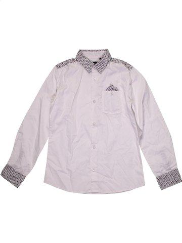 Chemise manches longues garçon LIBERTO blanc 10 ans hiver #1172391_1
