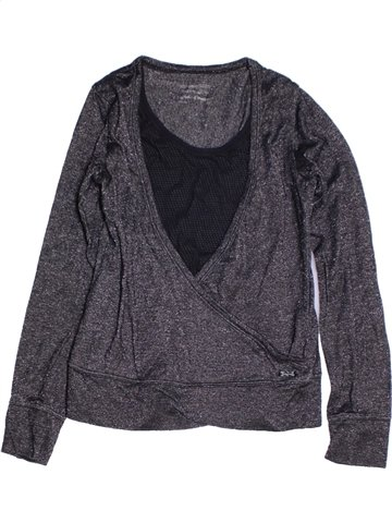 T-shirt manches longues fille TEDDY SMITH gris 12 ans hiver #1180677_1