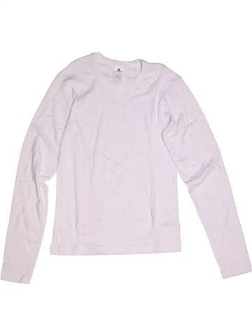 T-shirt manches longues garçon TISSAIA blanc 14 ans hiver #1181058_1