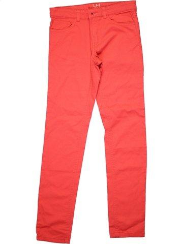 Jean fille LH BY LA HALLE rouge 12 ans hiver #1181191_1
