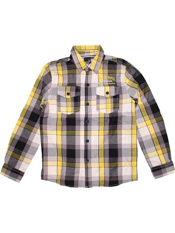 Chemise manches longues garçon LONGBOARD beige 12 ans hiver #1181962_1