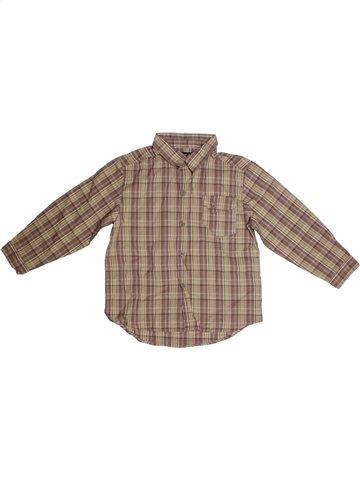 Camisa de manga larga niño TOUT COMPTE FAIT marrón 5 años invierno #1184010_1