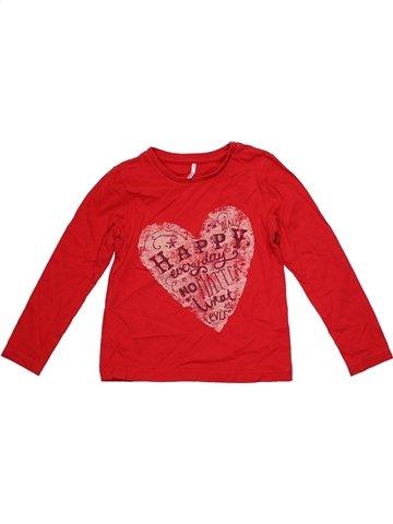 T-shirt manches longues fille LEVI'S rouge 6 ans hiver #1185023_1