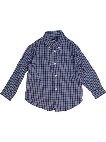 Chemise manches longues garçon GAP bleu 4 ans hiver #1188421_1
