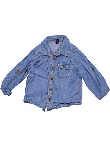 Camisa de manga larga niño KIABI azul 2 años invierno #1190699_1