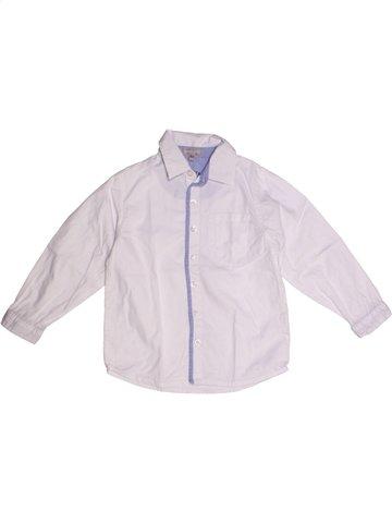 Chemise manches longues garçon GRAIN DE BLÉ blanc 3 ans hiver #1194774_1