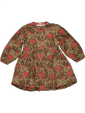 Robe fille KENZO marron 4 ans hiver #1196504_1