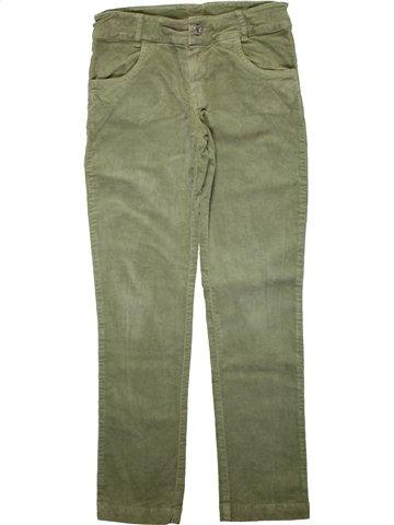 Pantalón niña CLAYEUX verde 10 años invierno #1196509_1
