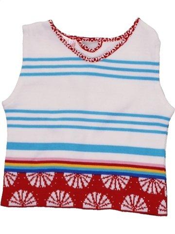 jersey niña CLAYEUX blanco 4 años verano #1198136_1