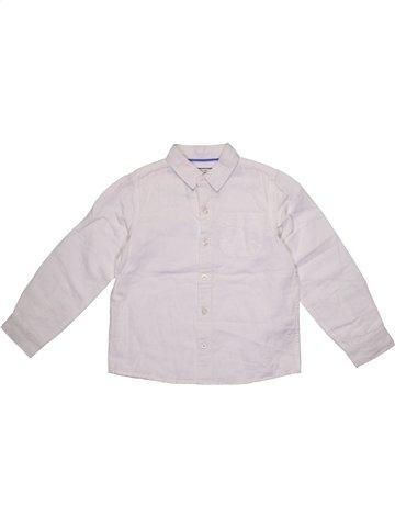 Chemise manches longues garçon MONSOON blanc 8 ans été #1199602_1