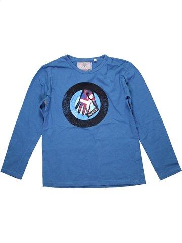 T-shirt manches longues garçon OOXOO bleu 10 ans hiver #1205276_1