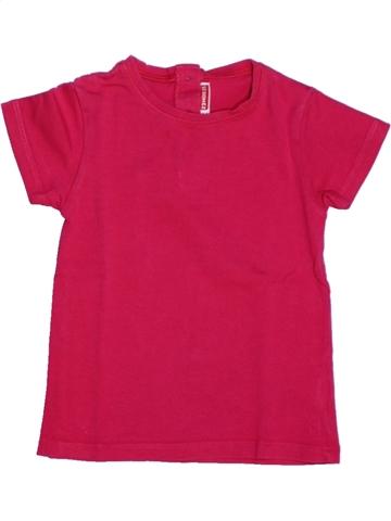 Camiseta de manga corta niña DPAM rosa 2 años verano #1205907_1