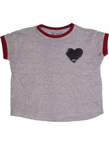 T-shirt manches courtes fille TEDDY SMITH violet 10 ans été #1210758_1