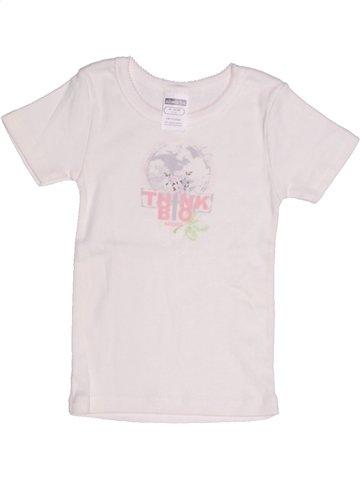 Camiseta de manga corta niña ABSORBA blanco 2 años verano #1213607_1