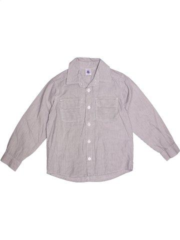 Chemise manches longues garçon PETIT BATEAU gris 6 ans hiver #1215428_1