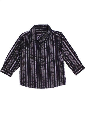 Chemise manches longues garçon KIMBALOO noir 2 ans hiver #1216529_1