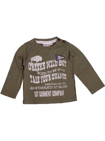 T-shirt manches longues garçon CREEKS marron 2 ans hiver #1218824_1