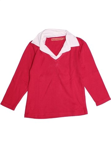 T-shirt manches longues fille LE PHARE DE LA BALEINE rouge 4 ans hiver #1219613_1