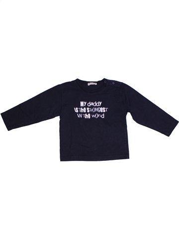 T-shirt manches longues garçon GRAIN DE BLÉ noir 2 ans hiver #1220355_1