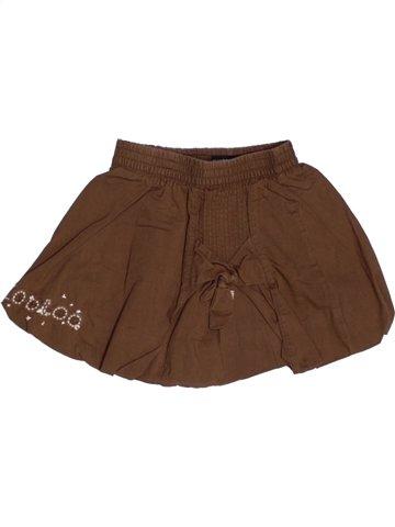Falda niña JEAN BOURGET marrón 2 años verano #1220544_1