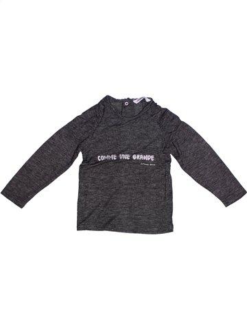 T-shirt manches longues fille 3 POMMES gris 3 ans hiver #1220909_1