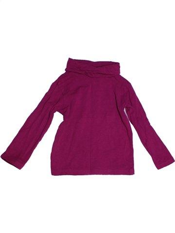 T-shirt col roulé fille GEMO violet 3 ans hiver #1224772_1