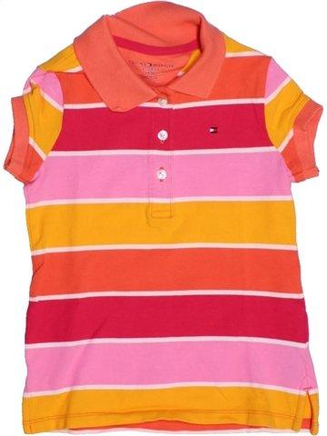 Polo manches courtes garçon TOMMY HILFIGER orange 5 ans été #1225984_1
