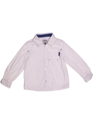 Chemise manches longues garçon KIMBALOO blanc 3 ans hiver #1228810_1